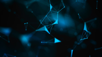 Abstract digital background. Big data visualization. Network connection structure. Science background.