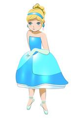 Cinderella fairy, girl, anime, princess, dance, ballet