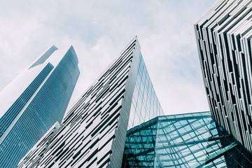 building glass in city