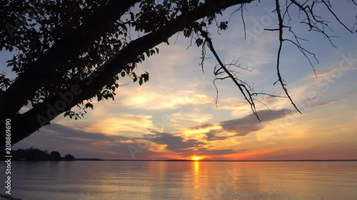 Willow Beach Ontario >> Sunset Over Water In Willow Beach Park Lake Simcoe