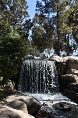 Waterfall in a public park