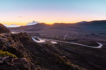 Sunrise over the Plaine des Sables in Reunion Island