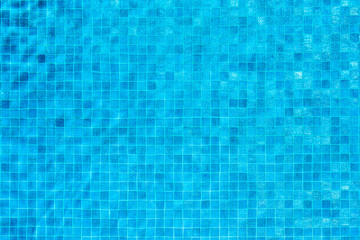Swimming pool blue mosaic background