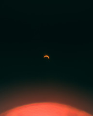 Surreal photo of a solar eclipse.
