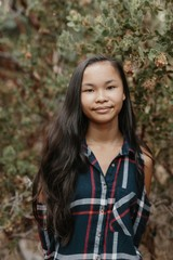 A Simple Portrait of a Young Asian Girl