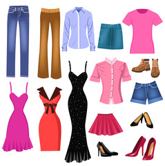 set of women clothes