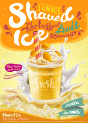 Mango flavor ice shaved poster