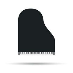 vector piano illustration - music icon. Vector stock illustration.