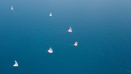 Regatta, aerial view