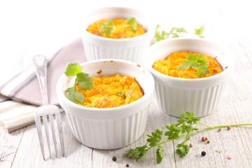 carrot flan or souffle