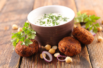 falafel and dip