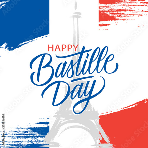 French national day 14th of july brush stroke greeting card in french national day 14th of july brush stroke greeting card in colors of the national m4hsunfo