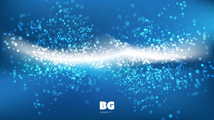 Blue and White Sparkling Wallpaper Background, Flyer or Cover Design for Your Business with Abstract Blurred Pattern - Applicable for Reports, Presentations, Placards, Posters-Creative Vector Template