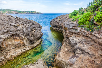 Angel's Billabong, the natural pool on the island of Nusa Penida, Klingung regency, Bali, Indonesia