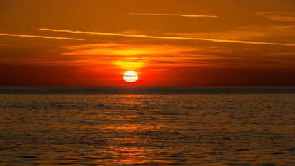 Sonnenuntergang auf der Insel Sylt