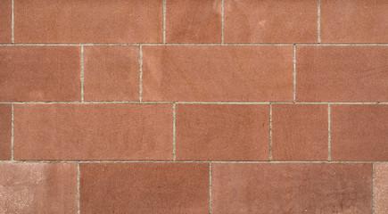 Rote Sandsteinmauer