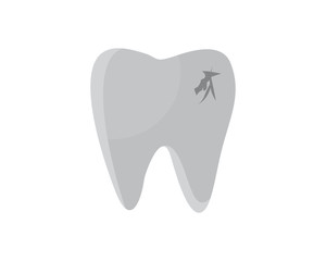 tooth cavity tooth cavity dental dentists dent incisor image vector icon