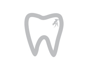 tooth cavity dental dentists dent incisor image vector icon