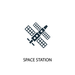 space station icon. Simple element illustration