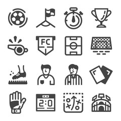 soccer and football icon set