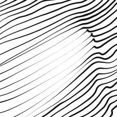 Line art wavy pattern