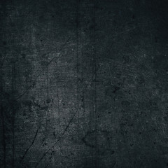 Aged black color painted metal texture - retro grunge background
