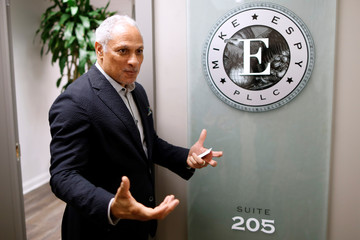 U.S. Senate candidate Mike Espy speaks during an interview in Jackson