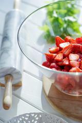 Juicy and sweet strawberries