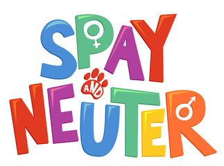 Spay And Neuter Lettering Illustration