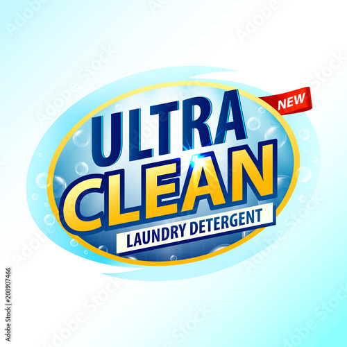 vector design template of laundry detergent detergent powder design