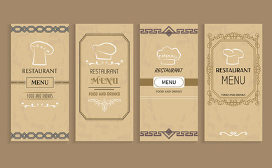 Restaurant Menu with Drinks and Food Templates