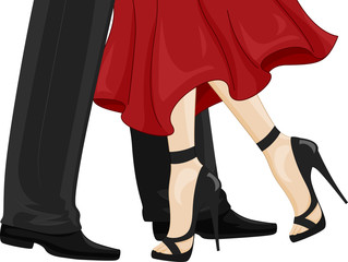 Feet Couple Dance Ballroom Illustration