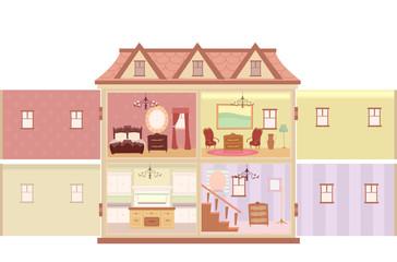 Interior Doll House Illustration