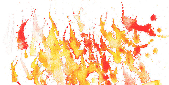 Hand drawn color abstract pattern background watercolor ink spot