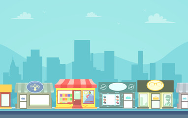 Urban Stores Background Illustration