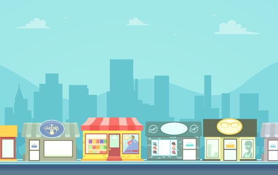 Urban Stores Background Illustration