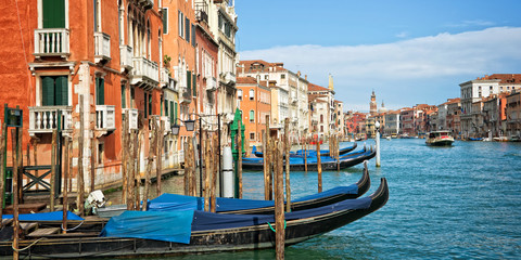Fototapete - Venice Italy, panorama of the grand canal