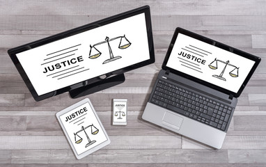 Justice concept on different devices