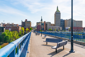 Pont De Rennes Pedestrian Bridge in Rochester, New York