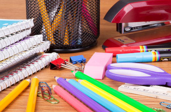 Assortment of School and Office Supplies