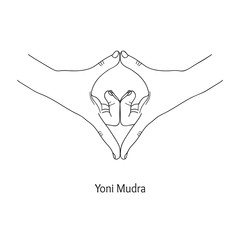 Yoni Mudra / Gesture of the Source. Vector.