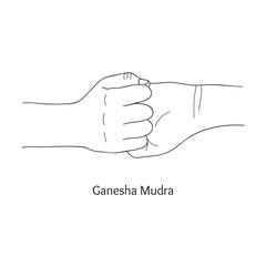 Ganesha Mudra. Vector.