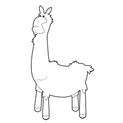 Easy Coloring Animals for Kids: Llama