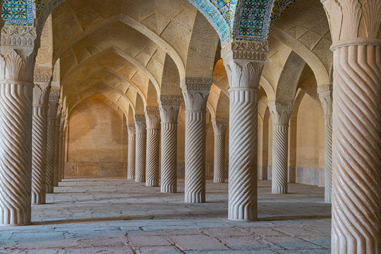 The Vakil Mosque is a mosque in Shiraz. Vakil means regent, which was the title used by Karim Khan, the founder of Zand Dynasty. Property release is not needed for this public place.