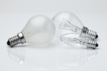 Electric lamp./Electric lamp on a white background.