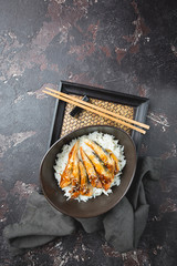 Grilled eel with rice