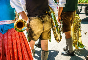 part of a typical bavarian brass instrument