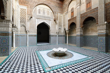 The interior of the Al-Qarawiyyin Mosque. Fez on November