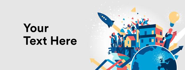 Banner per startup innovativa