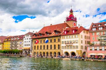 Beautiful river cityscape of Lucerne, Switzerland